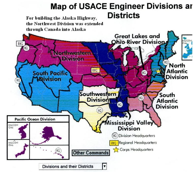us army corps of engineers districts